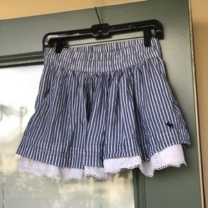 Abercrombie & Fitch Pinstriped Mini Skirt